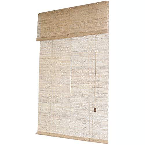 Roller Blinds Cortinas de bambú, persianas enrollables, mamparas divisorias, Protectores solares ventilados, Cortinas de ventilación, decoración de Paredes de Fondo de pasillos y Balcones