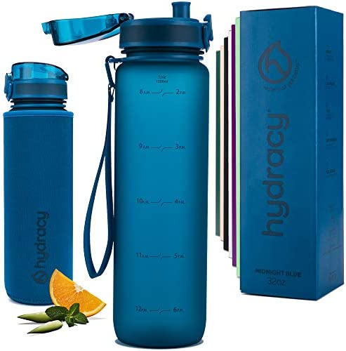 Hydracy Water Bottle with Time Marker Large 1 Liter 32oz BPA Free Water Bottle Leak Proof No product image