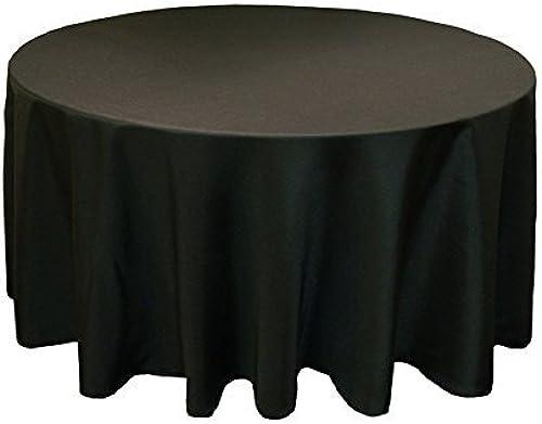 Rund Baumwolle Polyester Tischdecke Cover für Hochzeit, Esstisch und Geburtstag Party 304,8  von Hochzeit liefert, Textil, Pack of 5, Schwarz