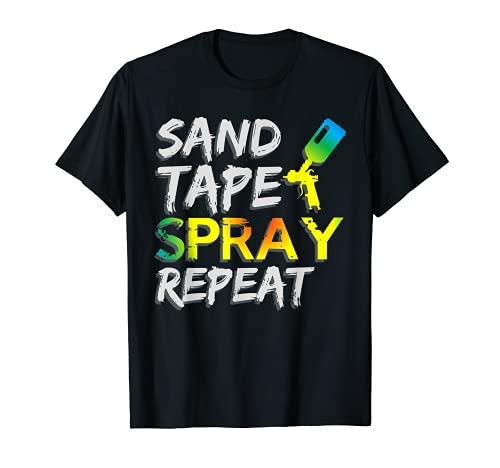 Cinta de lijar Spray de repetición Pintor de carrocerías de Camiseta