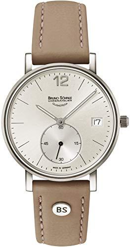 Bruno Söhnle Damen Analog Quarz Uhr mit Leder Armband 17-13191-261