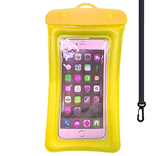 Resbalón del Teléfono a Prueba de Agua, Caja De Teléfono Móvil Impermeable Universal Funda Protectora A Prueba De Agua (Color : Yellow)