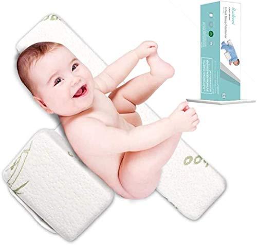 Seitenkissen Baby, Adjustable 45° Babys Side Schlafkisse Kopfkissen Vorbeugung Flachkopf-syndrom Lagerungskissen Baby Abnehmbar Und Waschbar Memory Bambusfaser Seitenschläferkissen (3-12 Months)
