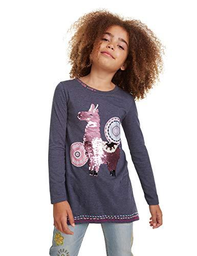 Desigual Mädchen T-Shirt Nicolas Langarmshirt, Grau (Gris Oscuro 2006), 128 (Herstellergröße: 7/8)