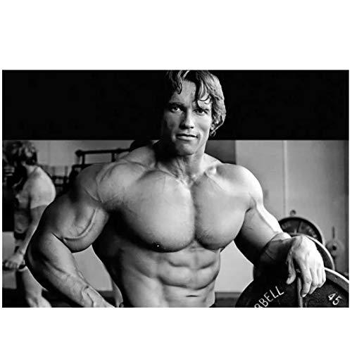 WXUEH Arnold Schwarzenegger Bodybuilder Mr Olympia Universum Wandkunst Poster Leinwanddrucke Gemälde Für Die Inneneinrichtung -50X75Cmx1Pcs-Kein Rahmen