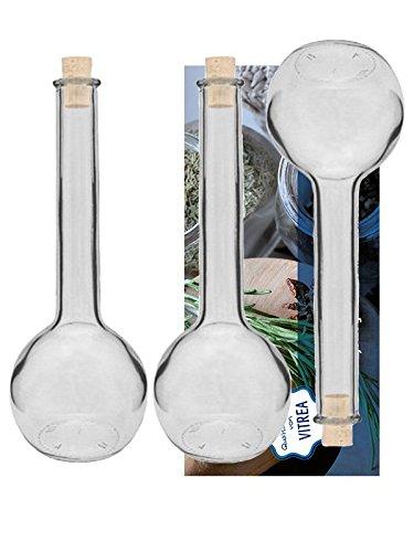 Vitrea 6 Glasflaschen 500ml Tulipano Flaschen Likörflaschen Schnapsflaschen Essigflaschen Ölflaschen zum Selbstbefüllen