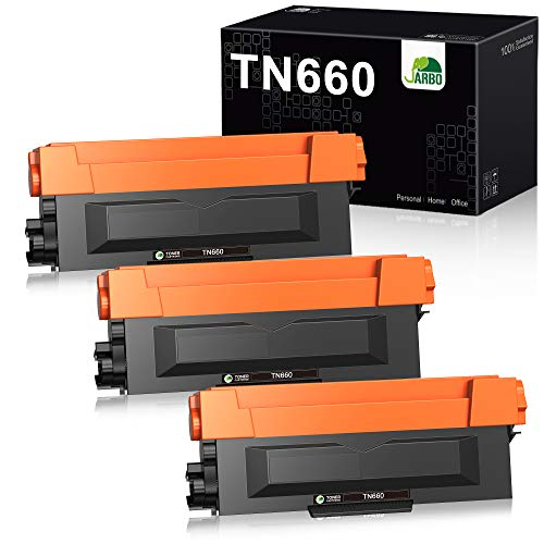 JARBO Compatible Toner Cartridge Replacement for Brother TN630 TN-630 TN660 TN-660, 3 Black, High Yield, for HL-L2300D HL-L2320D HL-L2380DW HL-L2340DW MFC-L2700DW MFC-L2720DW MFC-L2740DW Printer
