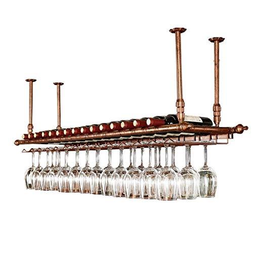 Bandeja de almacenamiento Estantes de vino de techo Altura ajustable Montado en la pared Cuelga de la botella de vino Titular de la botella de vino de hierro de metal Rack de vinos de vino Gobilet Ste