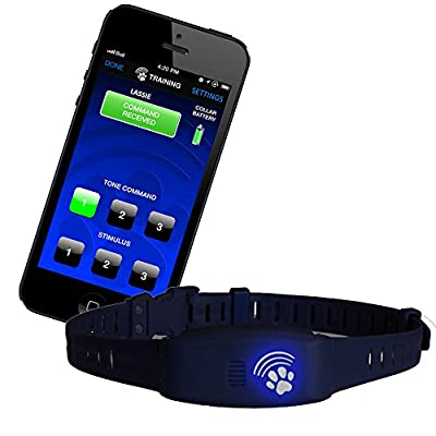 High Tech Pet Bluefang Smart Phone Electric Dog Fence, Training and Bark Stop Collar, BF-22, Navy Blue from High Tech Pet