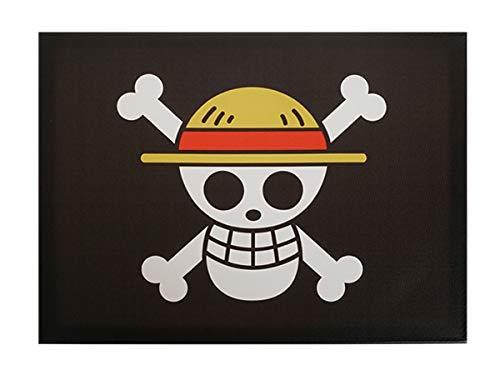 CoolChange One P. Stampa su tela, motivo: Jolly Roger della fascia di paglia, cornice in legno, 30 x 40 cm