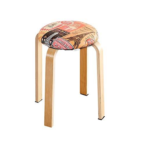 QYS make-uptafel van massief hout, eenvoudige zitbank, eettafel, 45 x 32 cm, D1118