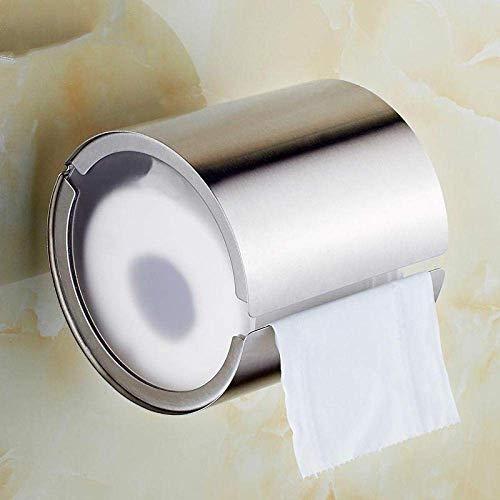 Portarrollos de Papel higiénico a Prueba de Humedad 304 Acero Inoxidable Toallero de baño Cilindro Rollo Creativo Soporte de Papel higiénico Caja Portarrollos de Papel higiénico