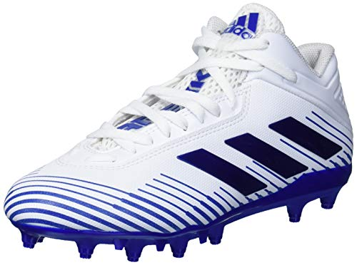 adidas Football Shoe, White/Team Royal Blue/White, 3 US Unisex Big Kid