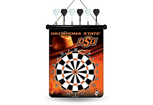 Rico Industries RPCOKLSMDB NCAA Oklahoma State Cowboys Magnetic Dart Board,Red,18
