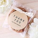 CozofLuv 100 pz Sacchetti autoadesivi e 102 pz Adesivi Etichette Grazie Borse Caramelle Sacchetto di Tenuta del Partito Biscotto (10x10+3cm)