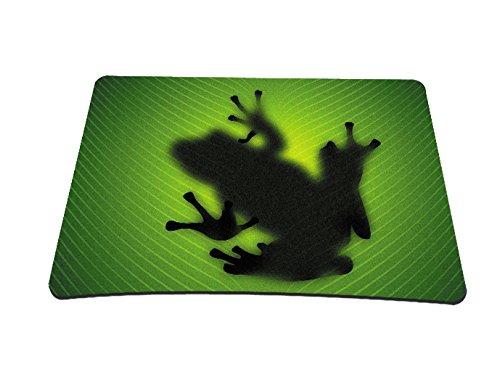 Silent Monsters Tappetino per mouse adatto per gaming e Ufficio 24 x 20 cm, design: green frog