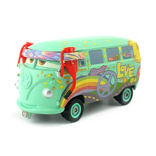 Disney Disney Pixar Cars Pit Crew Member Fillmore Metal Diecast Toy Car 1:55 Loose in Stock &