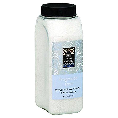 One With Nature Sels de bain - Non parfumés - 21 sels minéraux de la Mer morte - Pour nourrir et revitaliser la peau - 946 ml