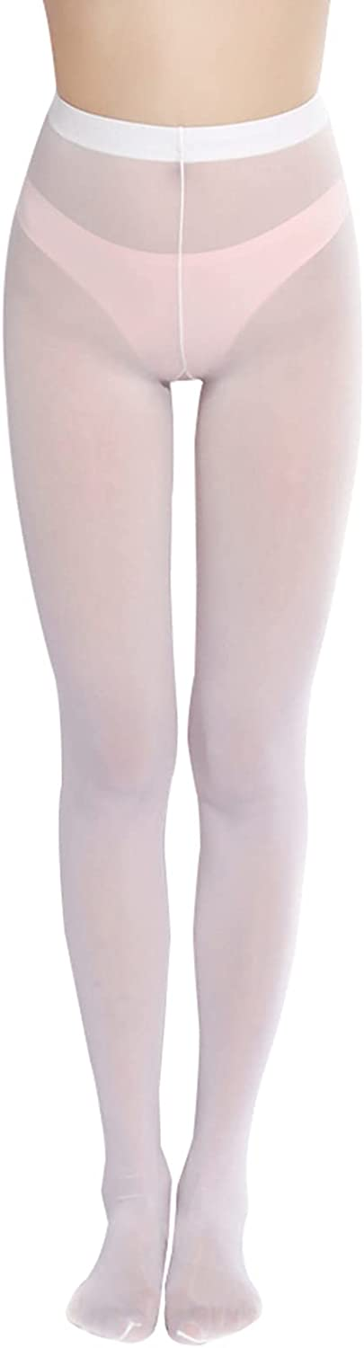 Moily Women's Glossy High Waist Stockings Mesh Sheer Tights Leggings Footed Pantyhose Underwear