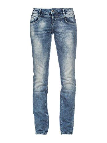 M.O.D Damen Jeans Rea Regular SP16-2078 Hüft Hose Medium Waist Regular Leg MOD Forever Blue W30/L30
