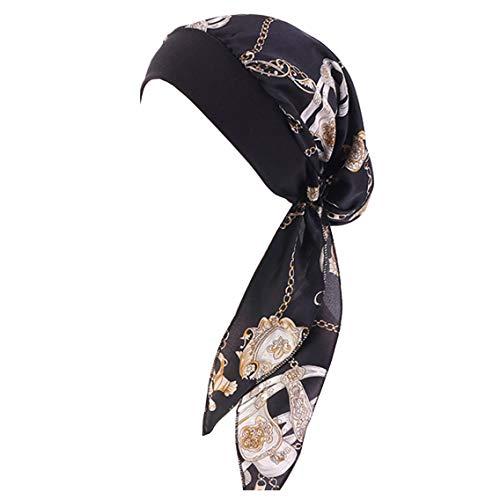 YONKINY Kopfbedeckung Chemo Damen Sommer Elegante Elastic Bandana Kopftuch Wrap Headscarf Beanie Hut Kopftuch Schal Turban für Haarverlust Krebs Chemotherapie (#8)