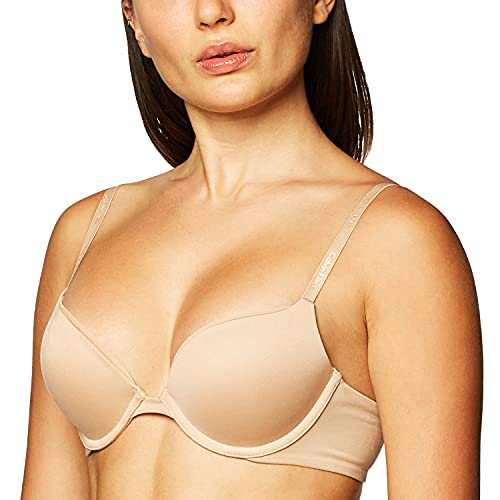 Calvin Klein Women's Constant Push Up Plunge Bra, bare, 34B