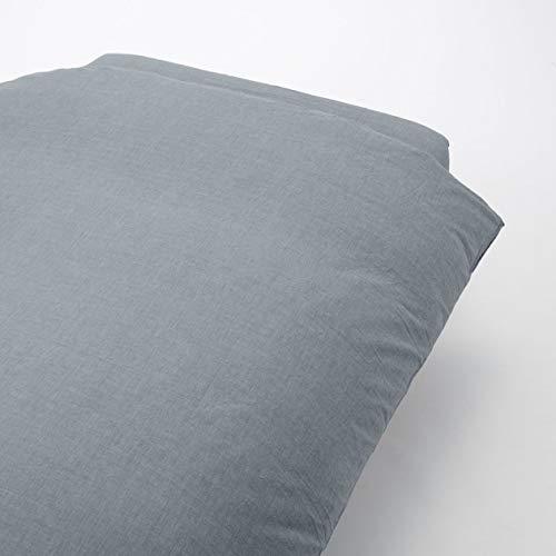 無印良品 綿洗いざらし掛ふとんカバー・S/ネイビー 150×210cm用 82224351