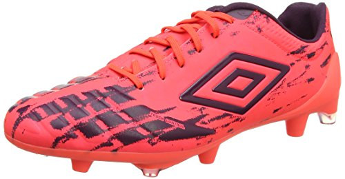Umbro UX Accuro Pro HG, Botas de fútbol Hombre, (Fiery Coral/Winter Bloom), 44 EU