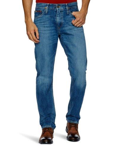 Tommy Jeans Herren Ryan Straight Jeans, Blau (La Used), W32/L34