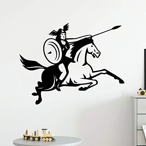 BailongXiao Pegatinas de Pared de caballería Grande Vinilo Impermeable Habitación Infantil Decoración del hogar Decoración de la habitación Tatuajes de Pared 50x63cm