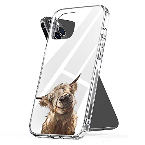 Phone Case Highland Cow Compatible with iPhone 6 6s 7 8 X XS XR 11 Pro Max SE 2020 Samsung Galaxy Shockproof Absorption Accessories
