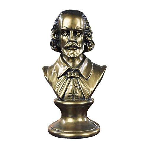 Mnjin Decoracin del hogar Escultura de Shakespeare Estatua, William Shakespeare Busto Figurilla Busto de Shakespeare Decoracin de Escritorio Recuerdos Artesanas Resina 1713.531Cm