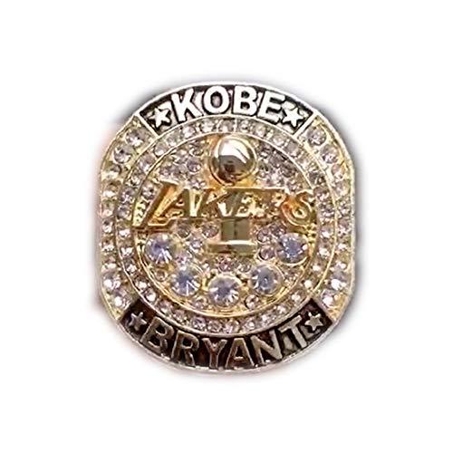 Fei Fei 2016 NBA Lakers Bryant Retire Memorial Championship Ring Anillos de Hombre, Championship Anillo de réplica Personalizado Anillos de Diamantes para Hombres,with Box,12
