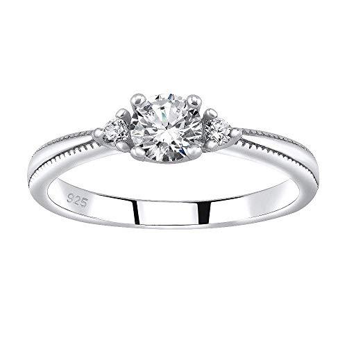 SILVEGO Verlobungsring aus 925 Sterling Silber MELAYNA mit Swarovski® Zirconia