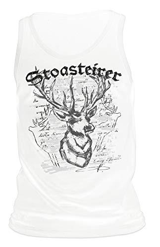 Steirisches Trachten Shirt Herren Tank Top Stoasteirer Tracht zur Lederhose Muskelshirt Trachtenmotiv Unterhemd für Männer