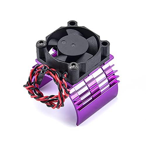 Para RC Para PARTES Coche eléctrico para SIN ESCOBILLAS Para la cubierta del disipador de calor del motor + ventilador de enfriamiento para 1/10 1:10 para HSP Para RC Coche 540 550 3650 Tamaño para el