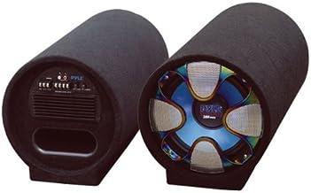 8-Inch Carpeted Subwoofer Tube Speaker – 250 Watt High Powered Car Audio Sound..