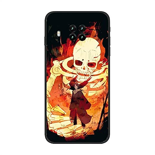 BAMANER Case for XIAOMI Redmi Note 9 Pro 5G/Mi 10T Lite, Naruto-Akatsuki Itachi-Uchiha Black 7 Black TPU Matte Coque Fit Flexible Ultra Thin