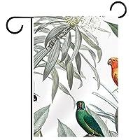 ウェルカムガーデンフラッグ(28x40in)両面垂直ヤード屋外装飾,鳥