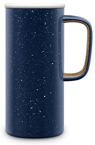 Ello Campy Vacuum Insulated Stainless Steel Water Bottle with Slider Lid 16 oz Navy