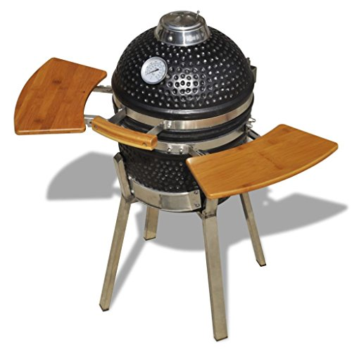 vidaXL Kamado Barbecue Grill Smoker Ceramic 76cm Garden BBQ Cooking Appliance