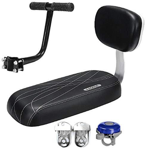 Cuscino per sedile posteriore della bicicletta, maniglia per sedile posteriore, per bambini, set di maniglia, colore: nero