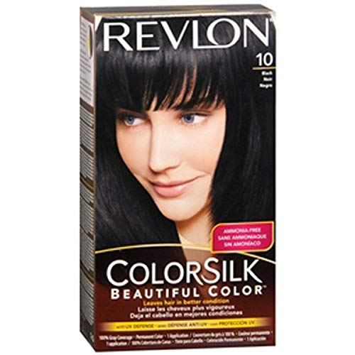 3 x Revlon-Colorsilk-Beautiful-Colour-Hair-Haarfarbe (10 - Schwarz)