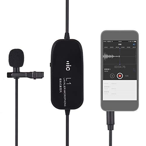 Clip-on microfone condensador omin-direcional microfone de gravação de áudio/vídeo para o Smartphone para câmera Nikon filmadora dslr para o áudio gravador de