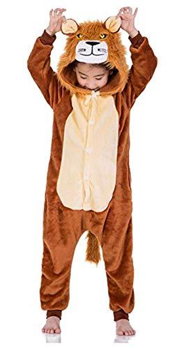 CADong - Pijama de unicornio unisex para disfraz de Halloween León 130/ 140 cm