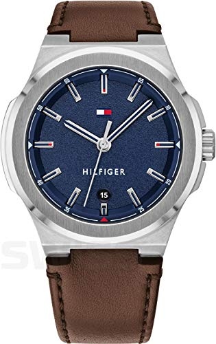 Tommy Hilfiger Reloj Analógico para Hombre de Cuarzo con Correa en Cuero 1791645