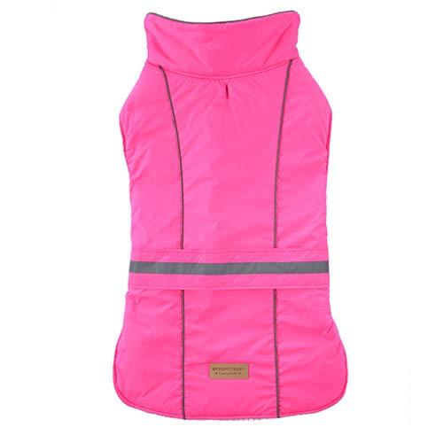 Yowablo Neuer reflektierender wasserdichter Haustier-Hundewinter-Warmer Mantel für kleines mittleres großes (XXL,3- Pink)