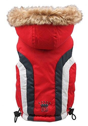 Hip Doggie HD-5SARD-BDXS Swiss Alpine Ski Vest hondenmantel, BDXS, rood