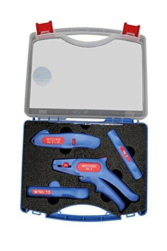 WEICON 52880001 Profi-Starter Werkzeug Set für Elektro, Heizung, Kundendienst & Zuhause, blau/rot