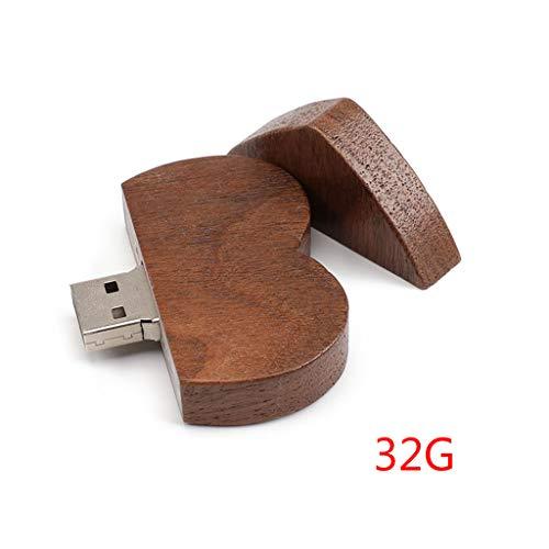 ATATMOUNT 16/32/64GB USB 2.0 Pen Drive Flash Drive Pendrive Memory Stick/Wooden Heart Gift